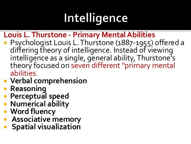 ll thurston s intelligence theory