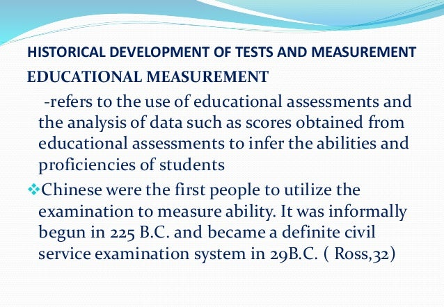The history of psychological assessment
