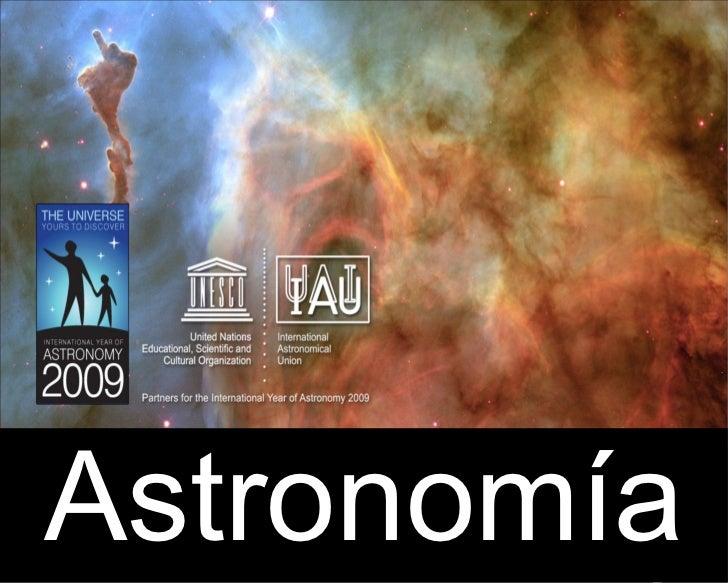 qu es la astronomia
