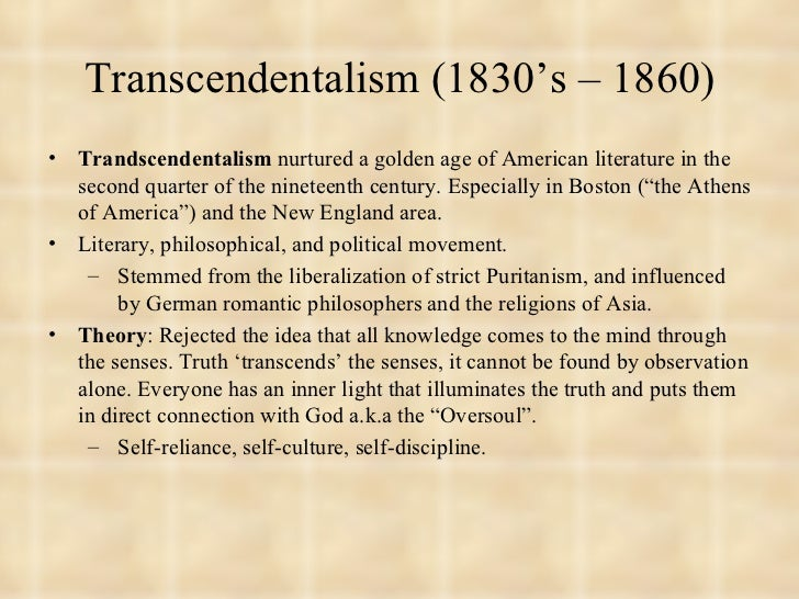 essay assignment on transcendentalism Transcendentalism essay assignment lord, thesis statement chronological order, primary homework help anglo saxons  march 27, 2018.