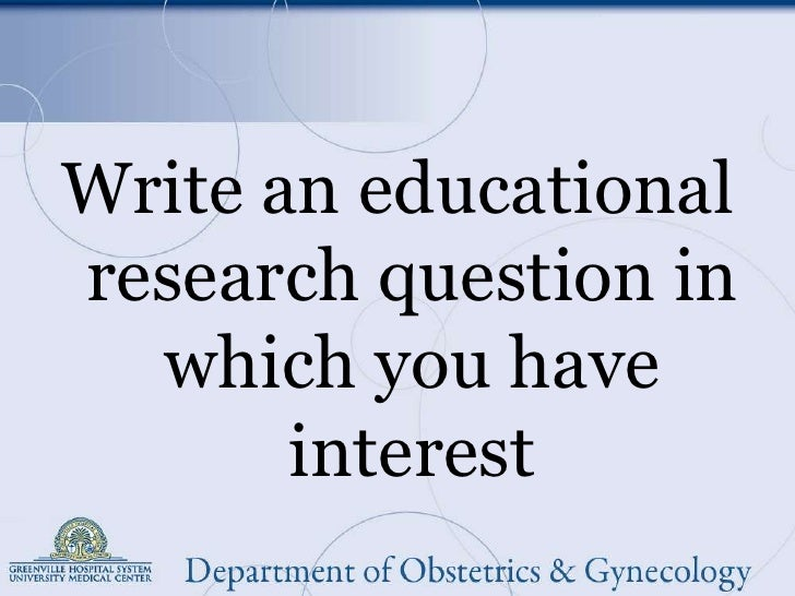 I need a good research question!?