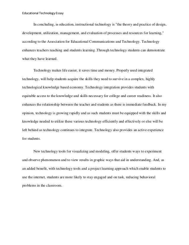Essays about technology