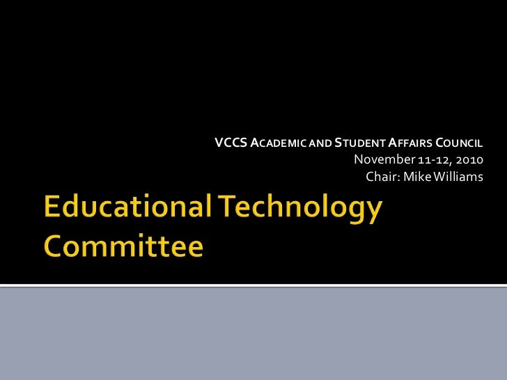 Educational technology report out 11-11-10