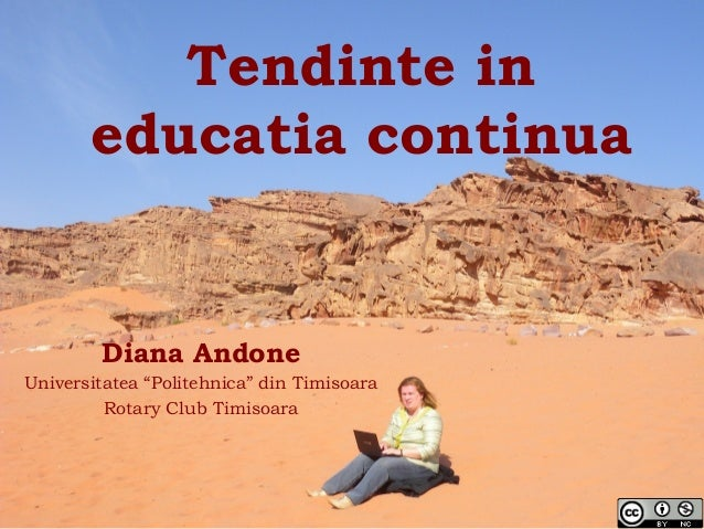 Tendinte in educatia continua / New trends in life long learning