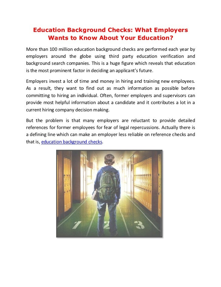 Education Background Checks: What Employers Wants to Know About Your Education?