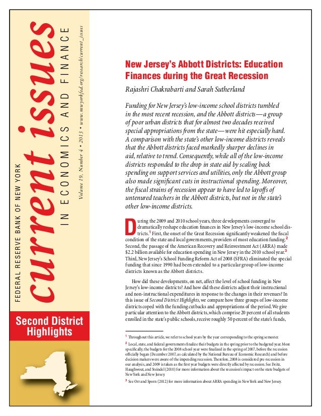 New Jersey's Abbott Districts: Education Finances During the Great Recession