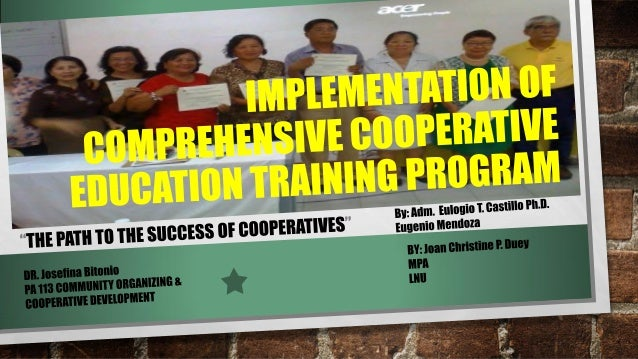 Education for the Success of Cooperatives  PA113