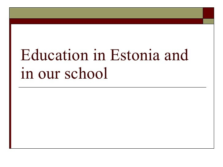 Education in estonia