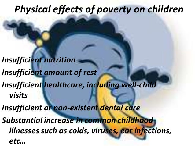 effects of poverty on children The effects of poverty on children's socioemotional development: an ecological systems analysis mary keegan eamon bronfenbrenner's process—person—context—time model is used to.