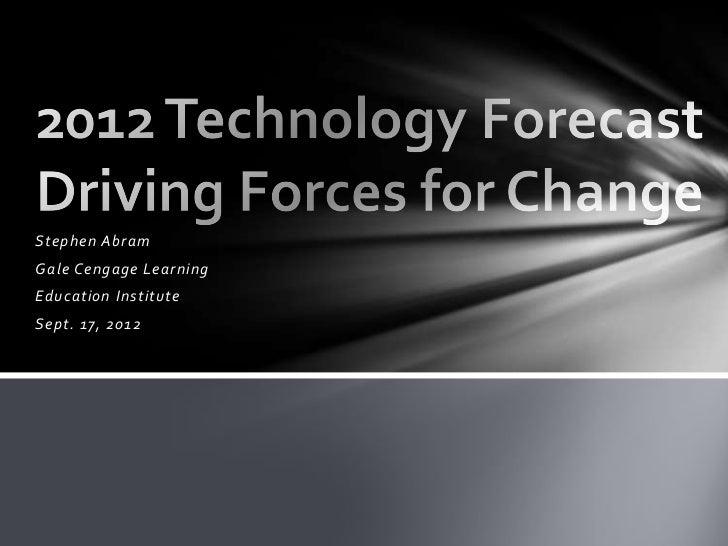 Education institute2012techforecast