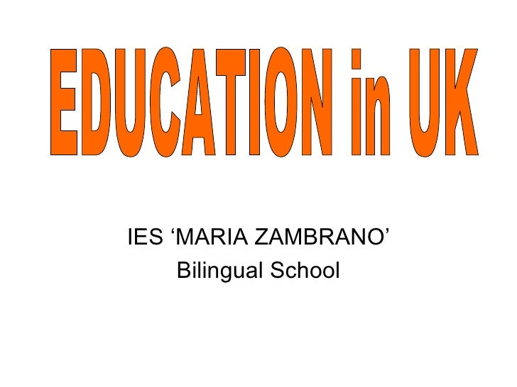 IES 'MARIA ZAMBRANO'     Bilingual School