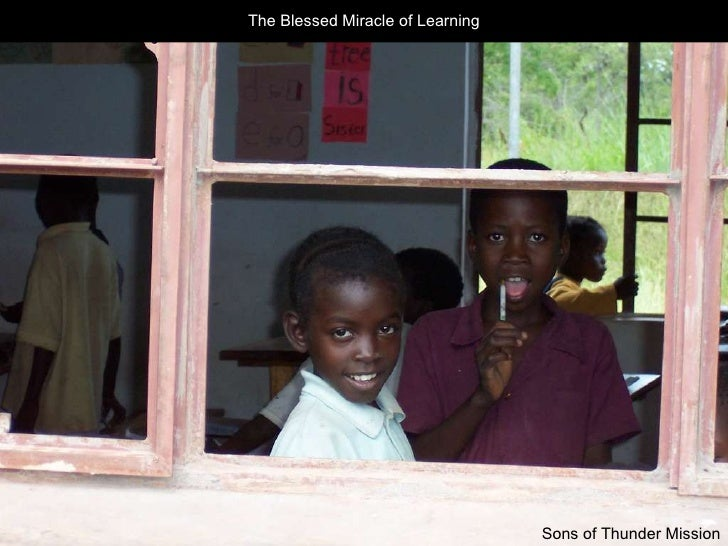 The Blessed Miracle of Learning Sons of Thunder Mission