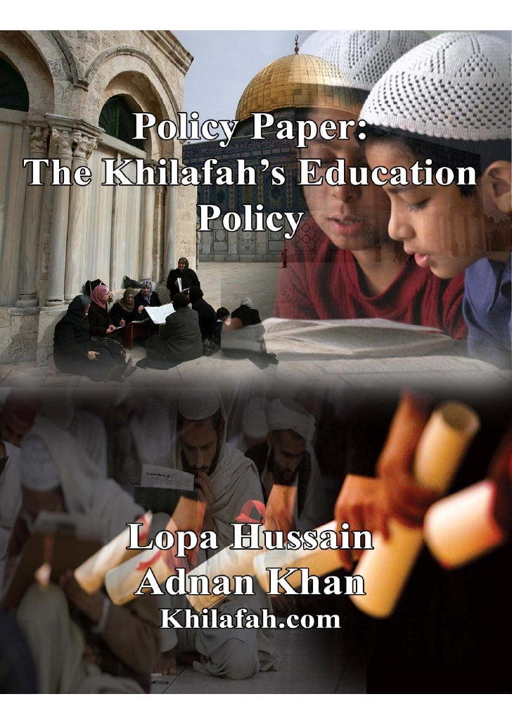 Policy Paper - The Khilafah's Education Policy