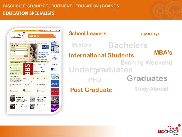 BIGCHOICE GROUP RECRUITMENT | EDUCATION | BRANDSEDUCATION SPECIALISTS                           School Leavers            ...