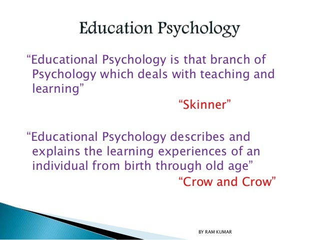 relationship between special education and psychology