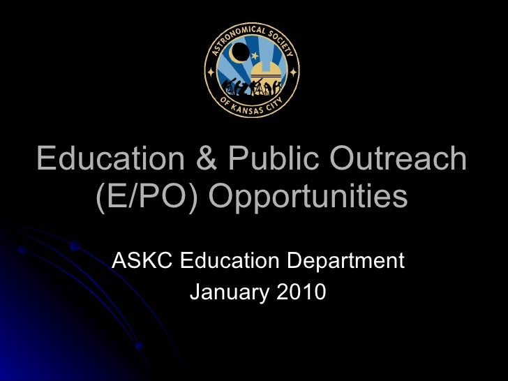 ASKC Education & Public Outreach Opportunities 2010
