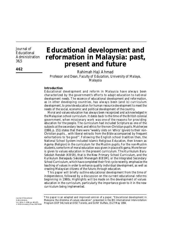 Journal ofEducational                          Educational development andAdministration36,5                              ...