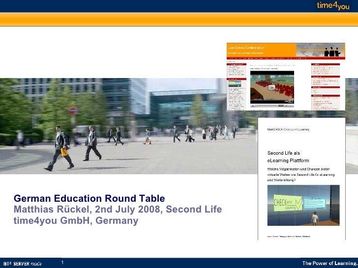 German Education Roundtable SL5B