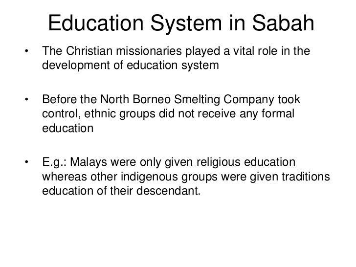 Education system in sabah n sarawak