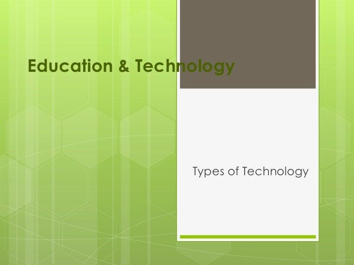 Education & technology