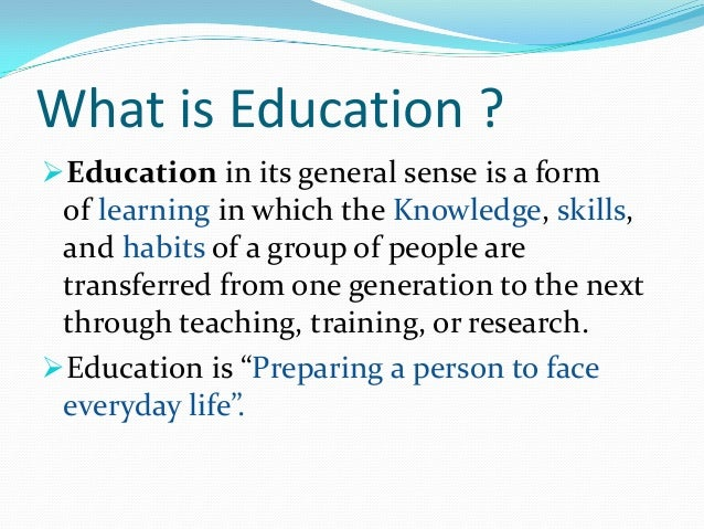 education is must essay