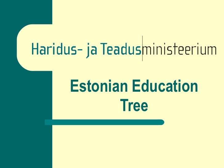 Estonian Education Tree