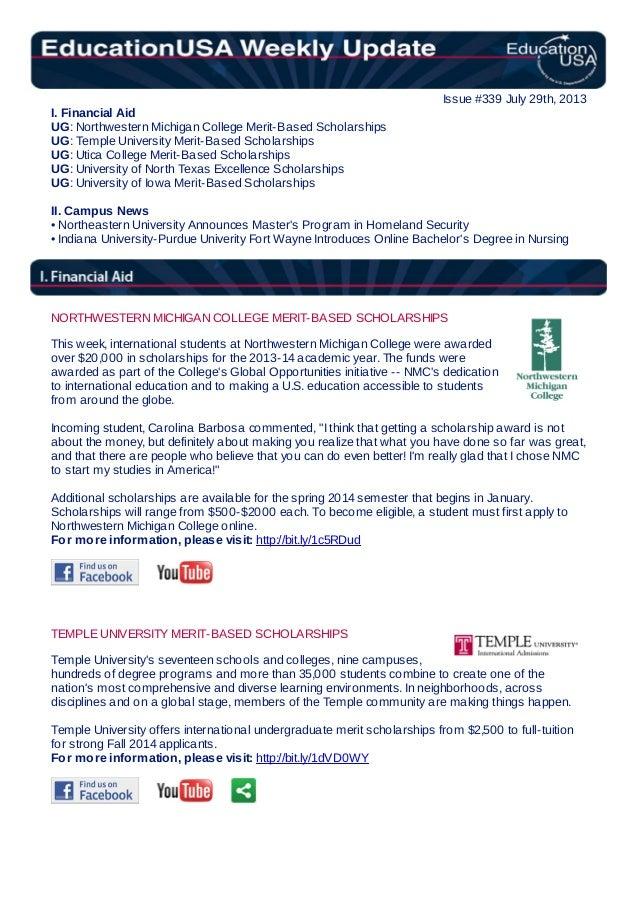 EducationUSA Weekly Update, #339, July 29, 2013
