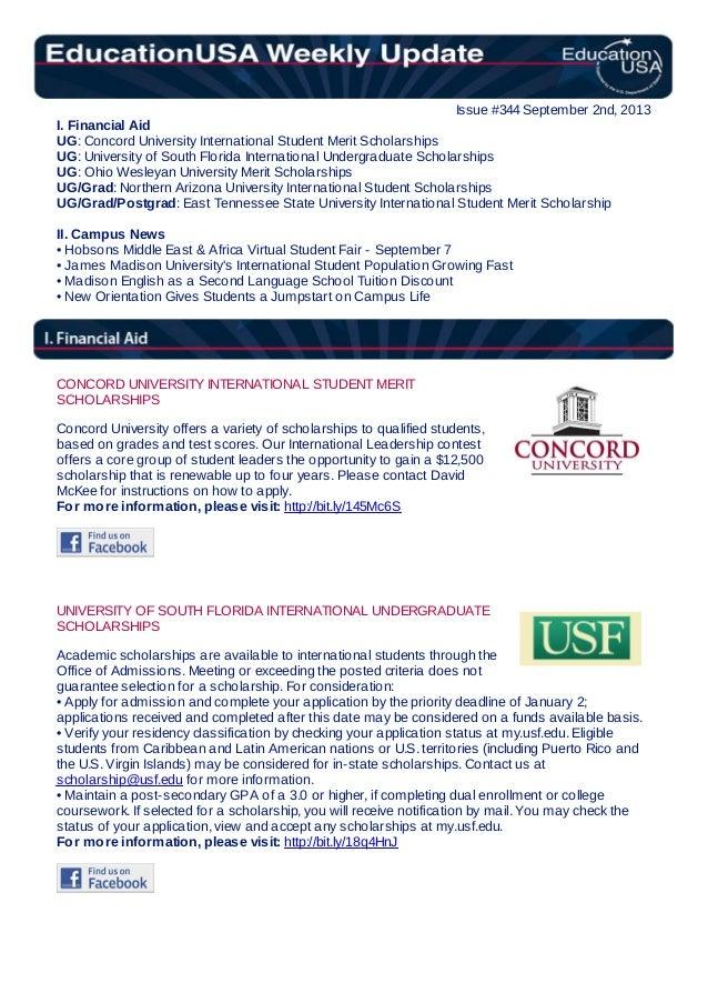 EducationUSA Weekly Update, #344, September 2, 2013