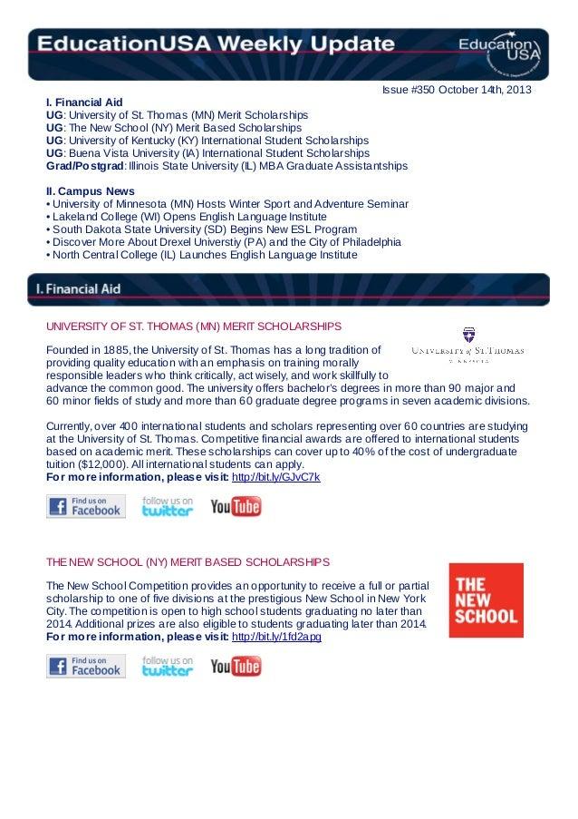 EducationUSA Weekly Update, #350, October 14, 2013