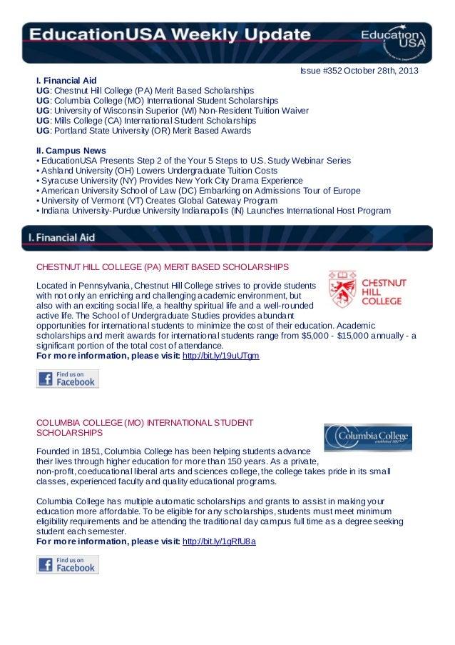 EducationUSA Weekly Update, #352, October 28, 2013