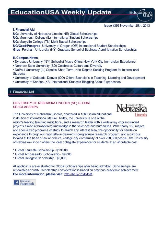 EducationUSA Weekly Update, #356, November 25, 2013