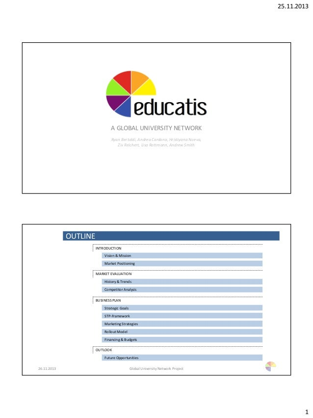 25.11.2013 1 EDUCATIS A GLOBAL UNIVERSITY NETWORK Ryan Bertoldi, Andrea Cardona, Hristiyana Noeva, Ziv Reichert, Lisa Rott...
