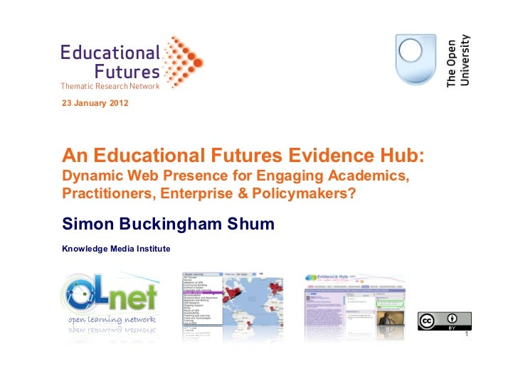 Educational   FuturesThematic Research Network                      ork23 January 2012An Educational Futures Evidence Hub:...