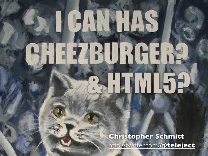 [edUiconf] HTML5 does all that… and i can haz cheeseburger? You bet!