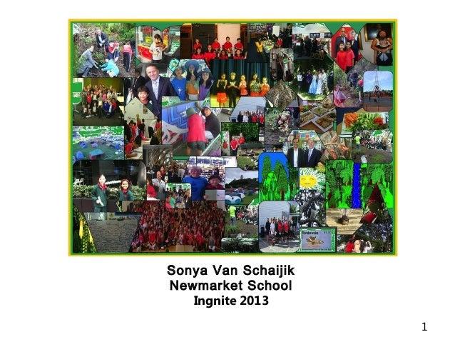 1Sonya Van SchaijikNewmarket SchoolIngnite 2013