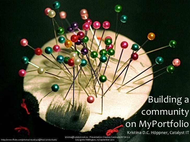 Building a community on MyPortfolio