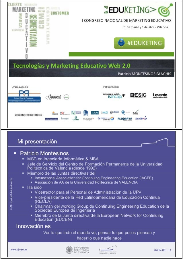 I CONGRESO NACIONAL DE MARKETING EDUCATIVO                                                                                ...