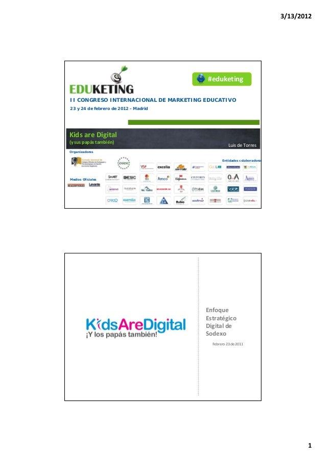 3/13/2012                                       #eduketingII CONGRESO INTERNACIONAL DE MARKETING EDUCATIVO23 y 24 de febre...