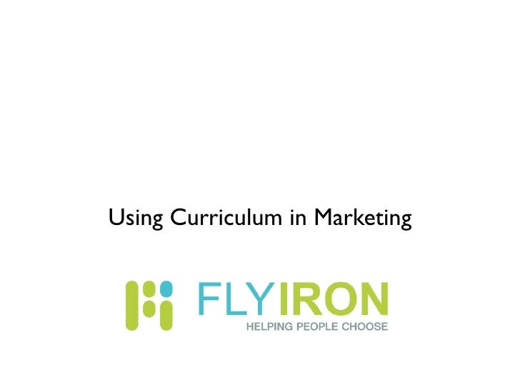 Using Curriculum in Marketing