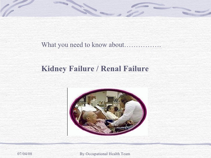 Edurenal Illness
