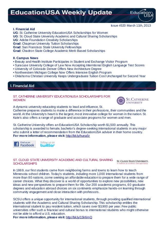 EducationUSA Weekly Update #320, March 11, 2013