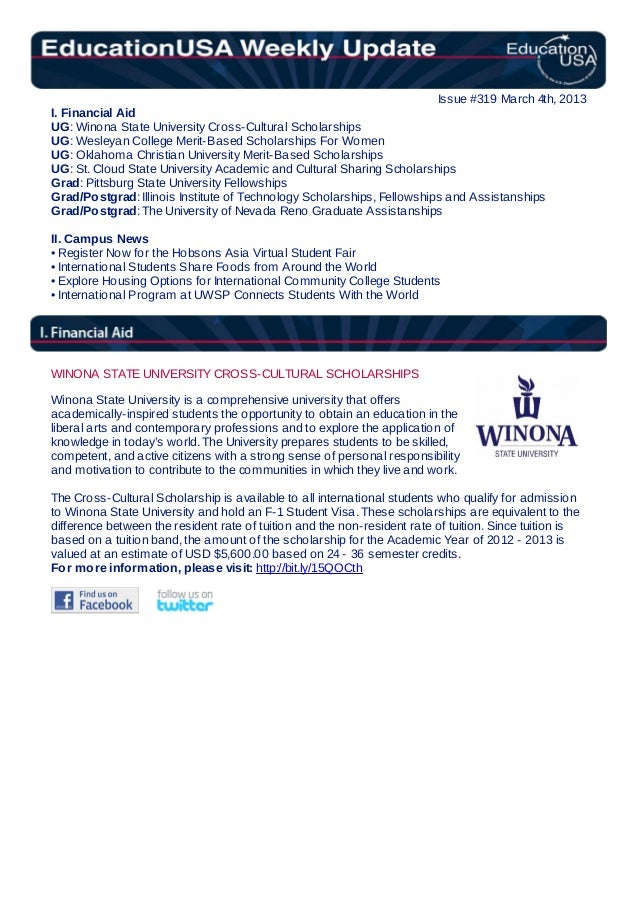 EducationUSA Weekly Update for March 4, 2013
