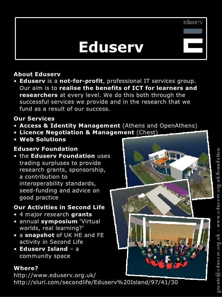 Eduserv Foundation SL projects