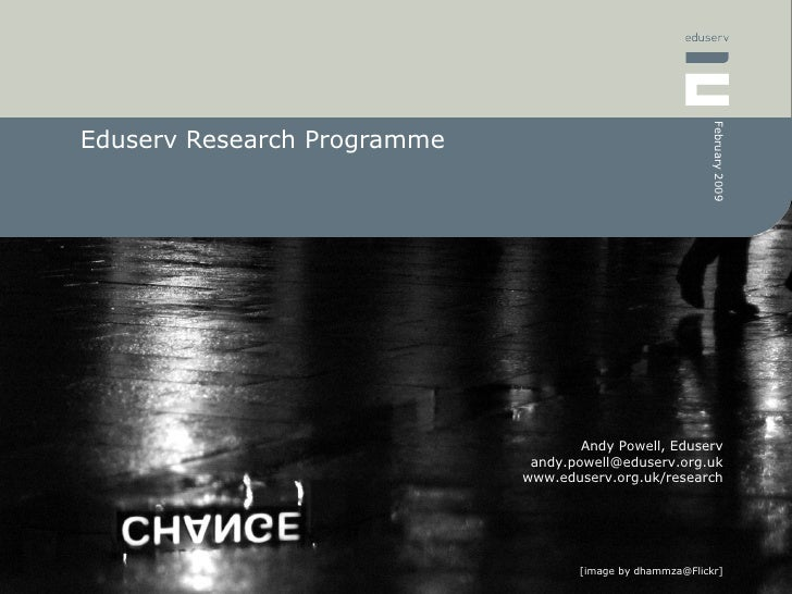 Eduserv Research Programme