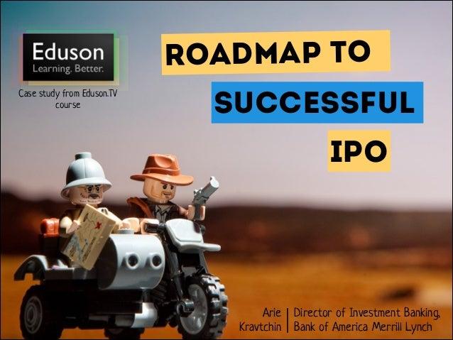 Eduson.tv - Roadmap to successful IPO