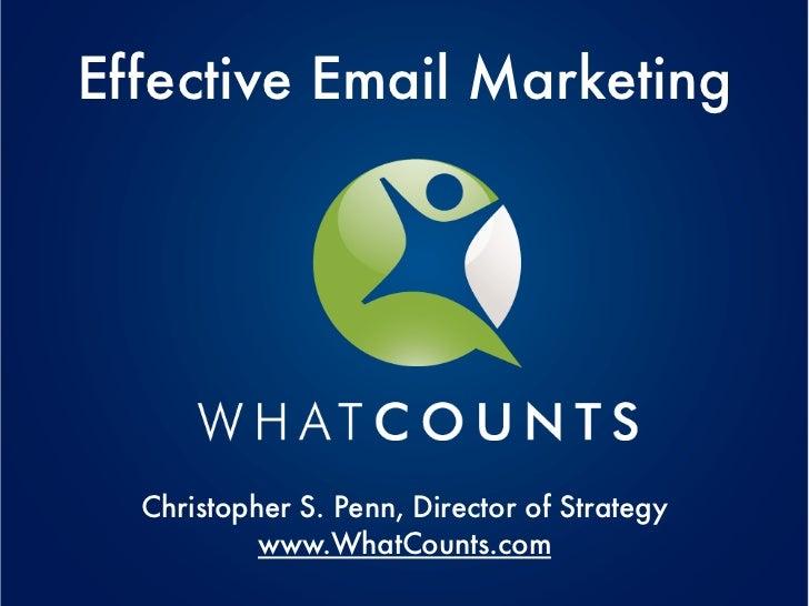 Effective Email Marketing as presented at Eduweb 2011