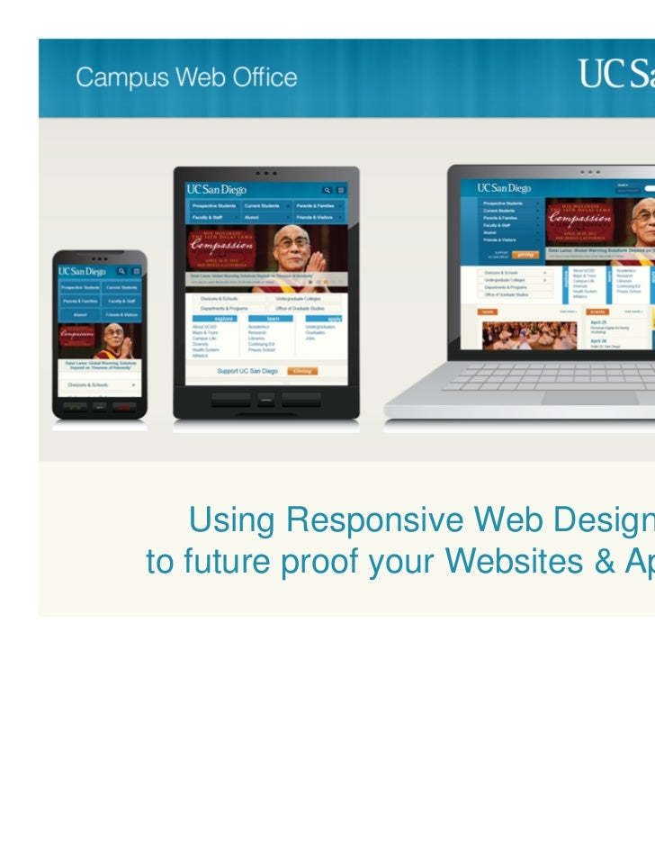 Using Responsive Web Designto future proof your Websites & Apps