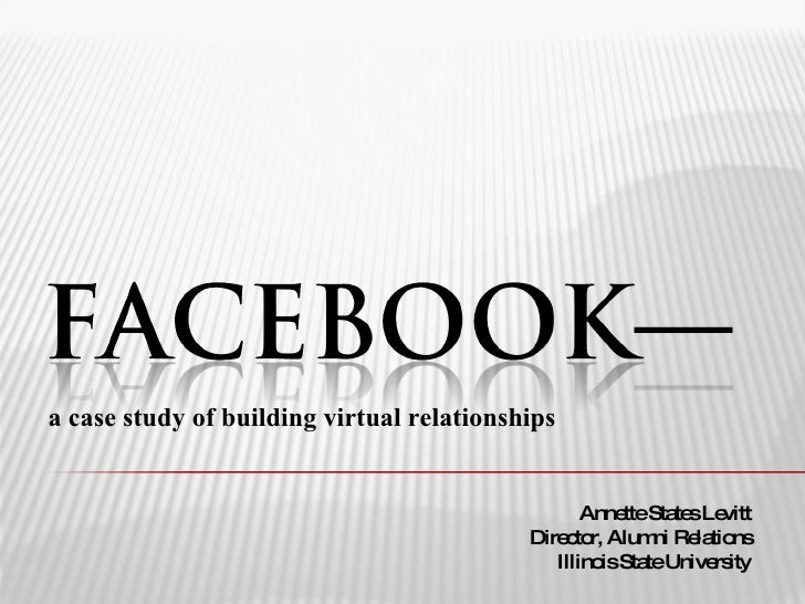 a case study of building virtual relationships                                                     Anne Sta sLe           ...