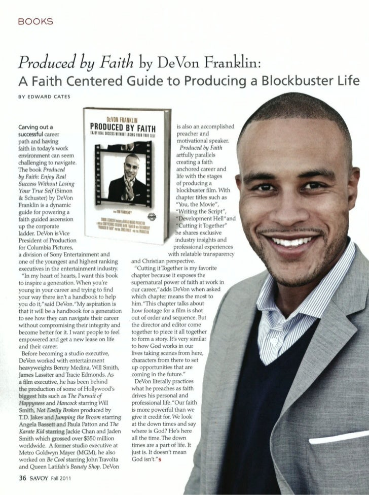 DeVon Franklin, Author and Columbia VP of Production Interview - Savoy 2011