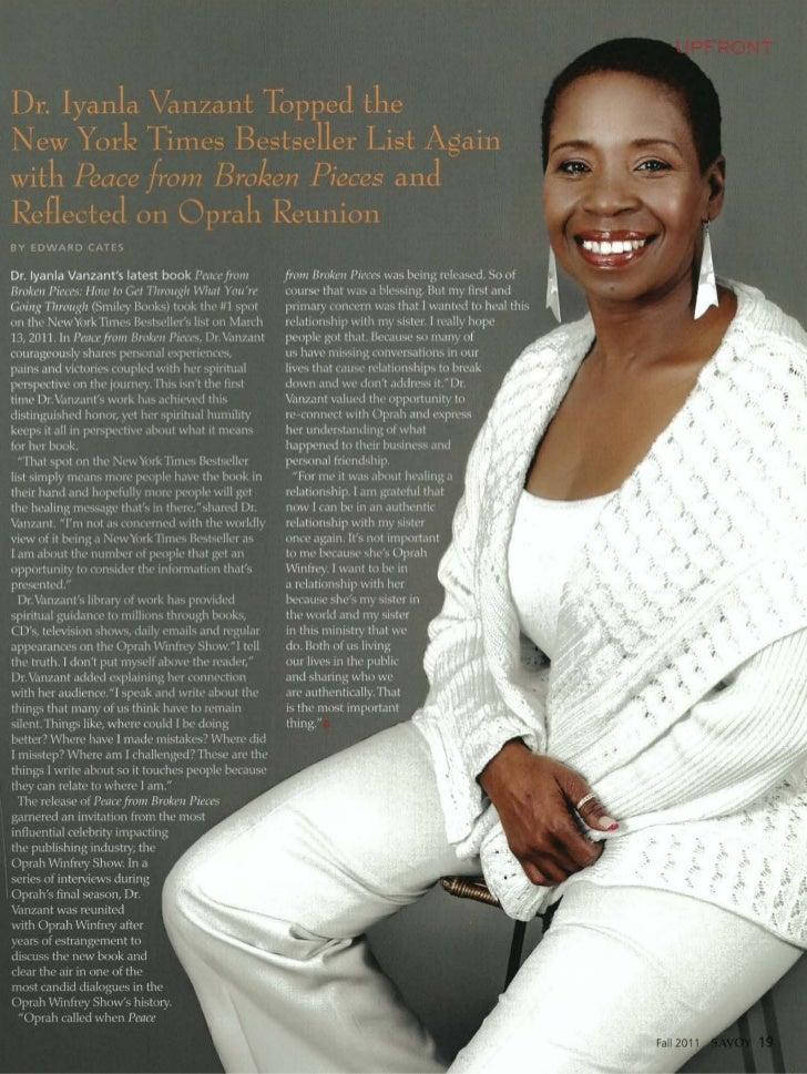 Dr. Iyanla Vanzant Interview - Savoy Fall 2011